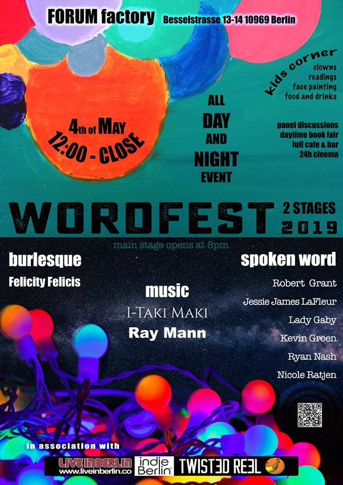 All the fun of the fair: it's Wordfest 2019 this coming Saturday – co-presented by indieBerlin