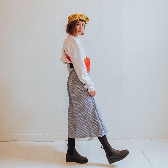 Polka dots and berets