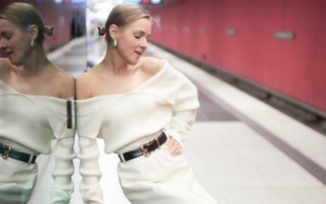 Anna Borisovna is striking in white